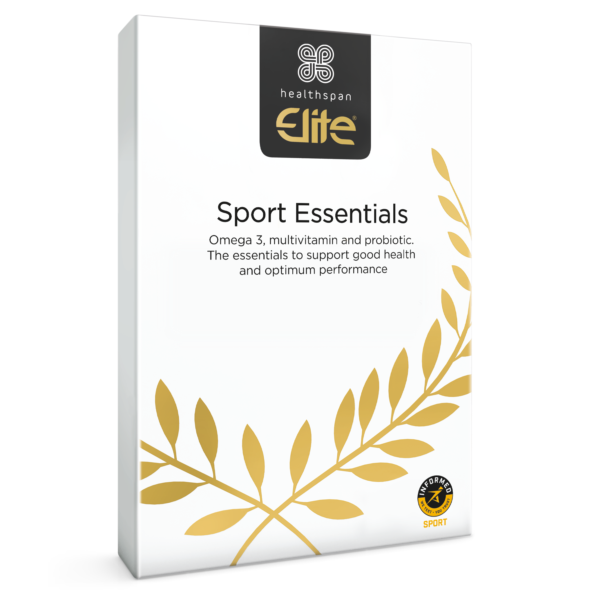 Elite Sports Essentials front carton
